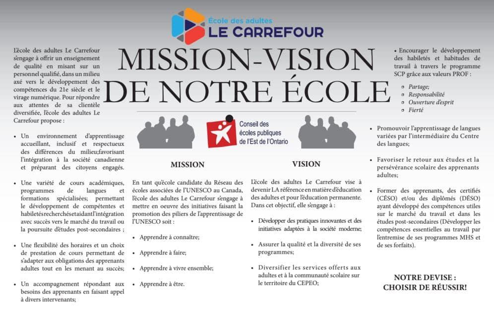 Mission et vision